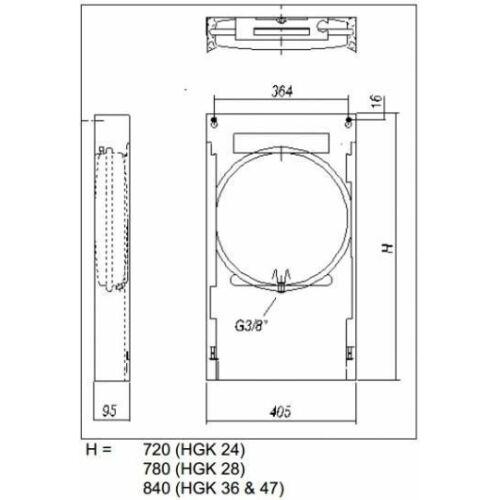 Hajdu HGK-28 felszerelő keret gázkazánhoz